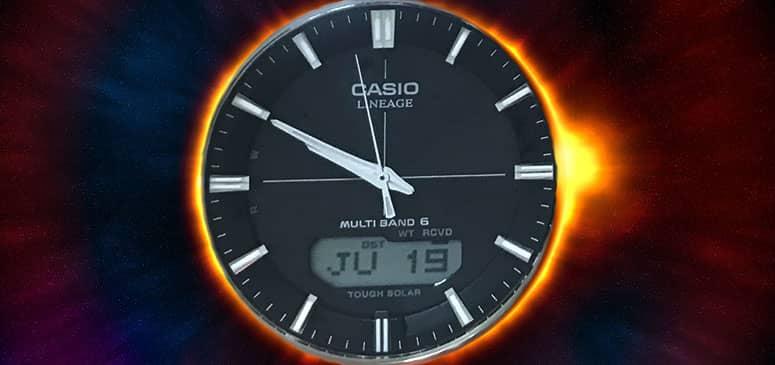 uno de los relojes solares de pulsera