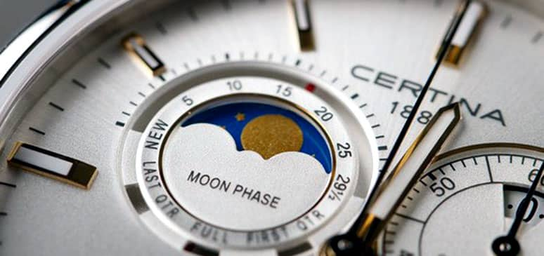 relojes certina ds moon phase