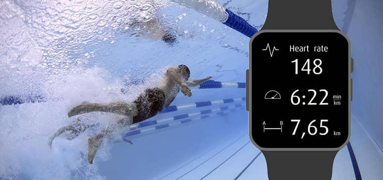 relojes de natacion en acción