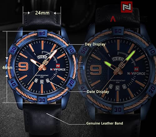 dial de un reloj naviforce