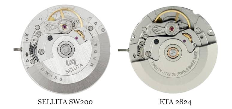 sellita sw200 vs eta 2824